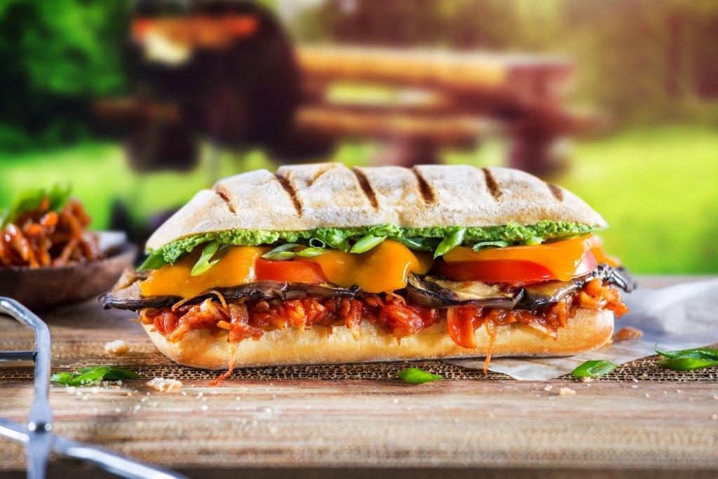 Mediterraner Grillgemüse Snack